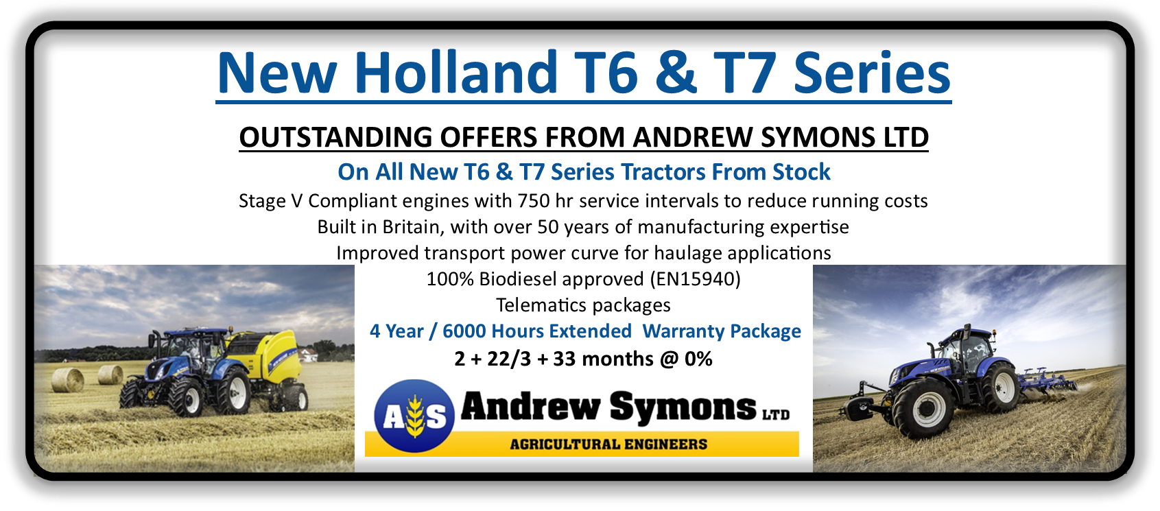 New Holland T6 & T7 Ad